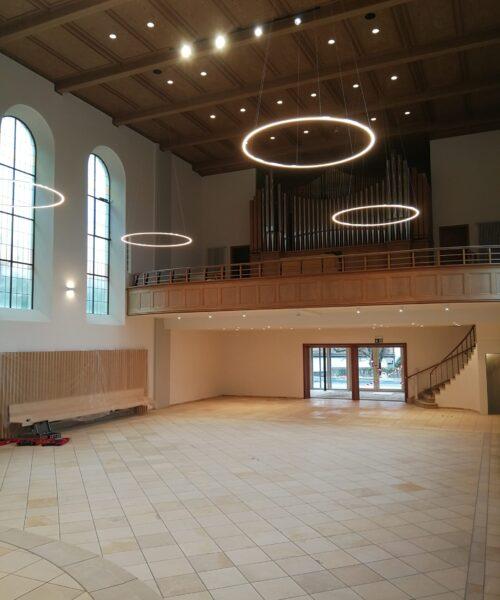 ref. Kirche Rapperswil SG während der Sanierung